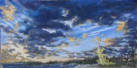Pastel Cloud Painting