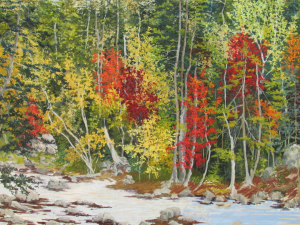 Pastel Maine Fall Painting