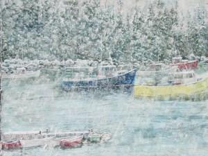 Pastel Winter Harbor