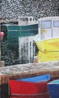 Pastel of Maine Fishing Boats