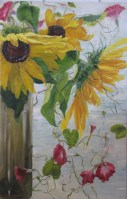 Oil Sunflower Painting