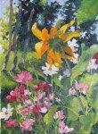 garden oil painting