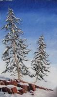 Maine Tree Pastel