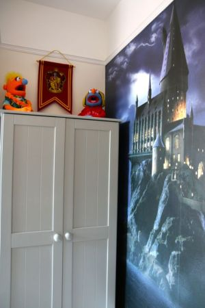 Harry Potter wall bedroom mural