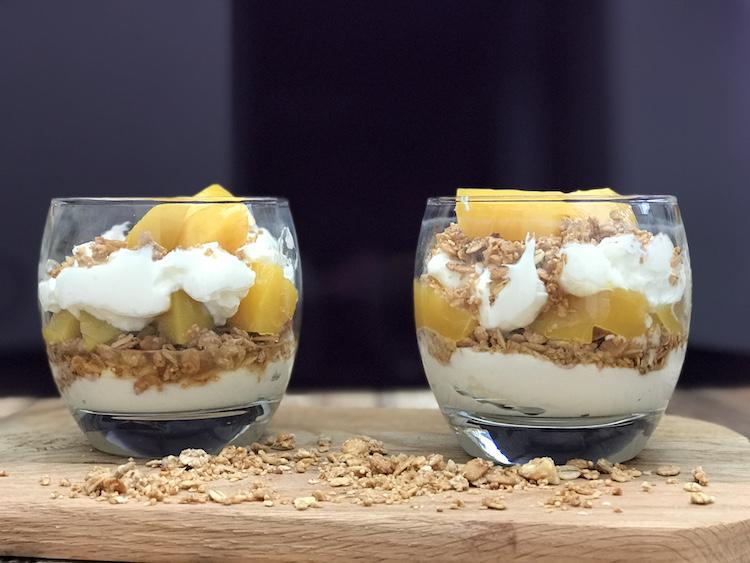 peach parfait breakfast recipe
