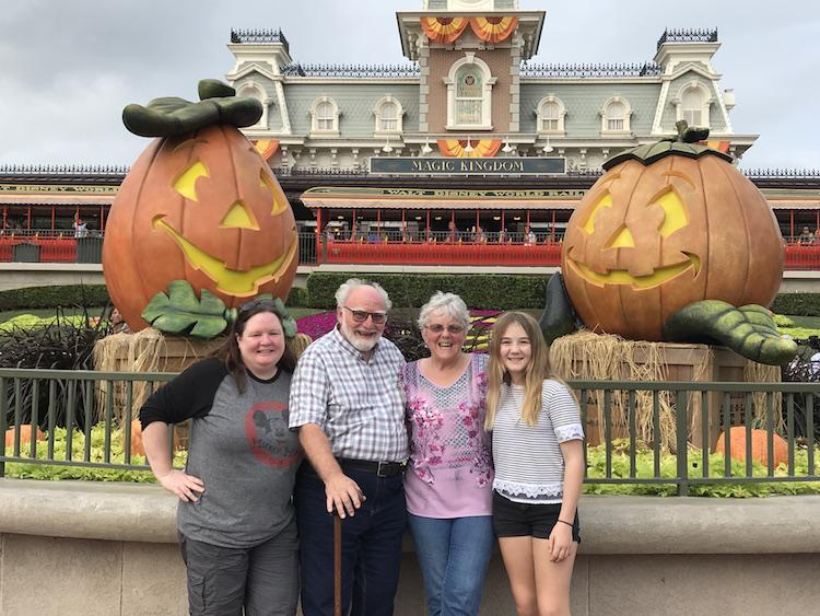 visiting Disney with grandparents