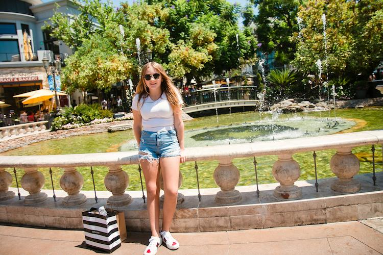 shopping at the grove LA
