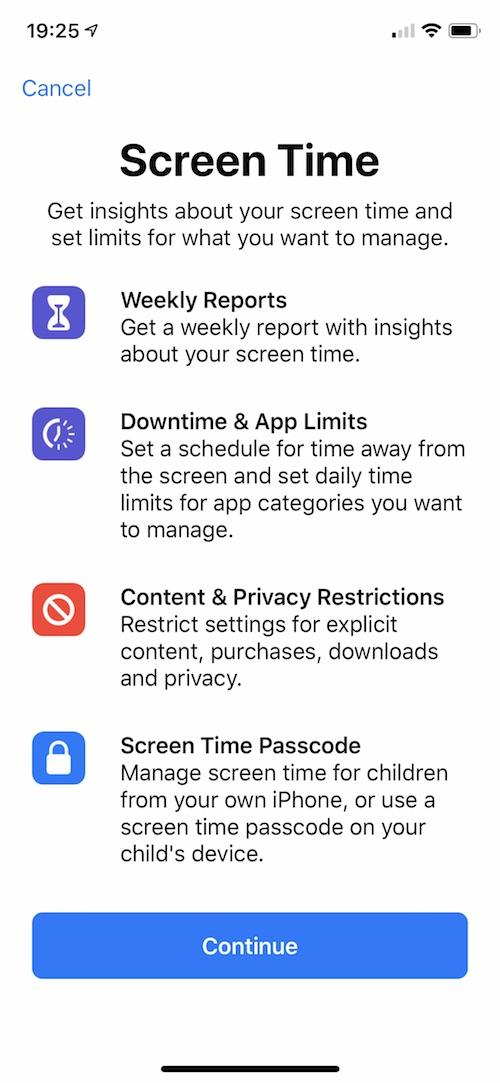 screen time controls