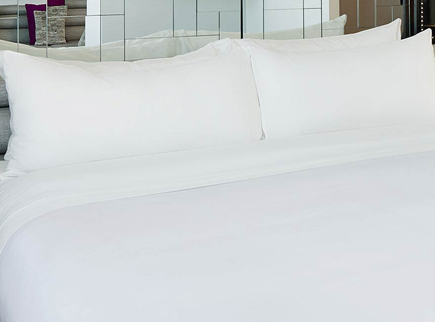 w hotels the store solid white bed bedding set