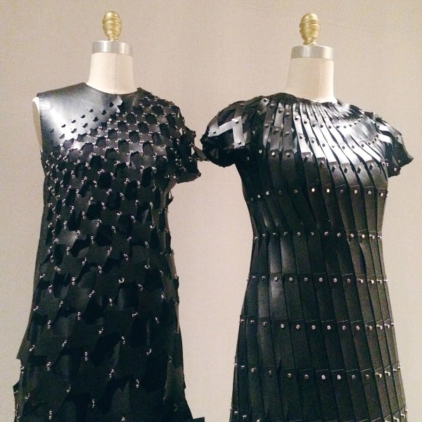 dresses by Rei Kawakubo (Comme des Garçons) on display at The Metropolitan Museum of Art in Manus x Machina