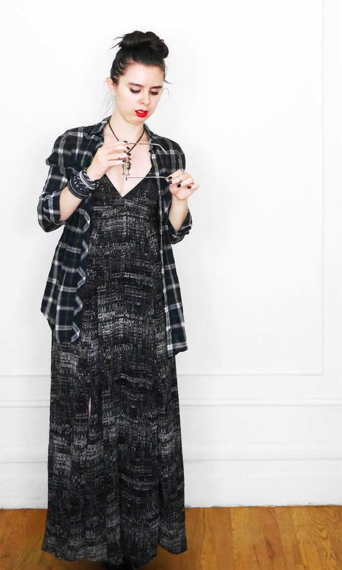 10x10 Wardrobe Challenge Dress + PlaidButtonUp 2