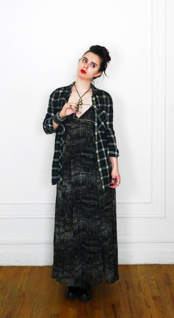 10x10 Wardrobe Challenge Dress + PlaidButtonUp 3
