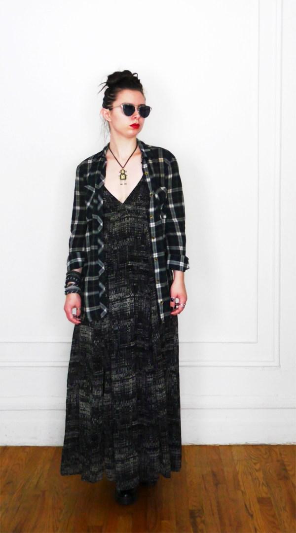 10x10 Wardrobe Challenge Dress + PlaidButtonUp 4