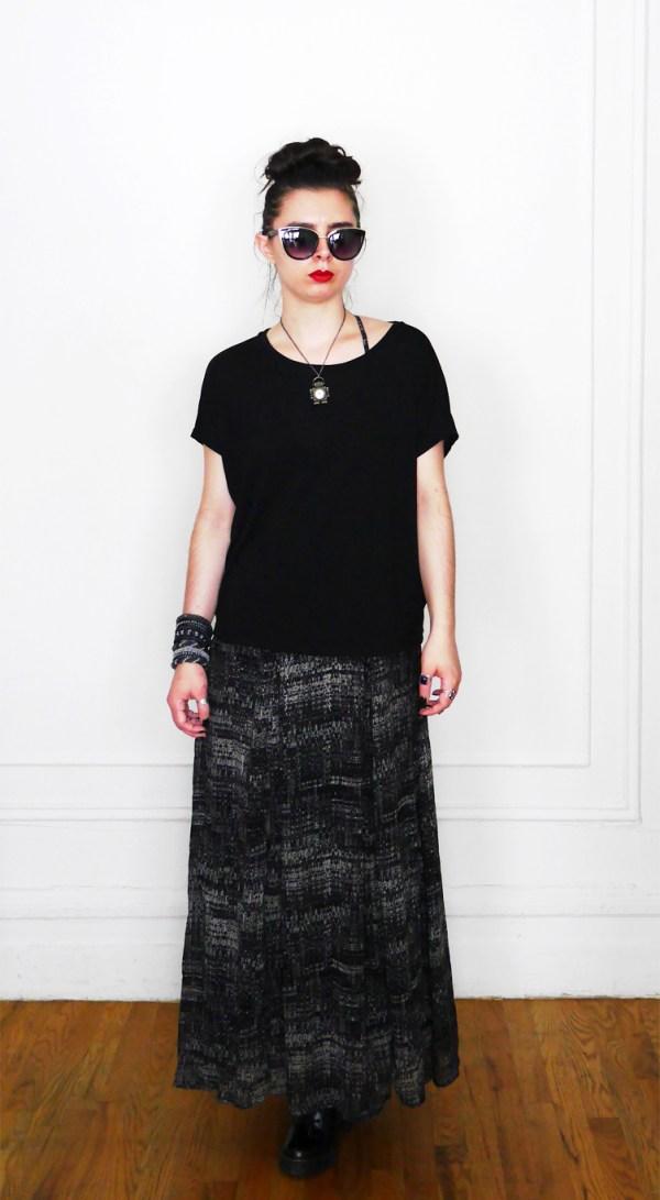 10x10 Wardrobe Challenge Dress+SlouchyTee 1