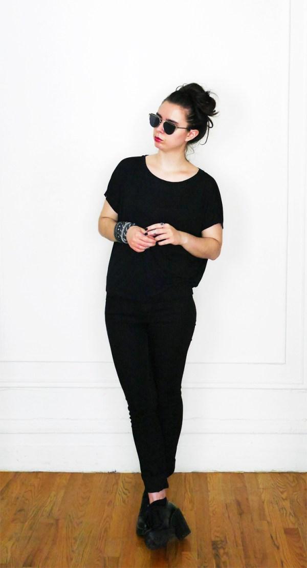 10x10 Wardrobe Challenge SlouchyTee+BlackJeans 1