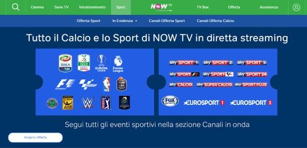 nowtv calcio streaming