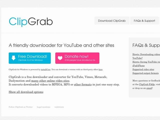 clipgrab - scaricare video da youtube