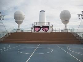 Auf dem Sportplatz konnte man neben Basketball und Fußball auch sehr gut Volleyball spielen. Dafür wurde jeden Tag von der Crew eine Netzwand aufgestellt.