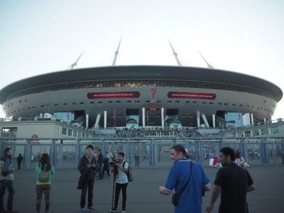 Im Krestowski-Stadion spielte unsere Nationalmannschaft gegen die gefürchteten Spieler aus Chile.