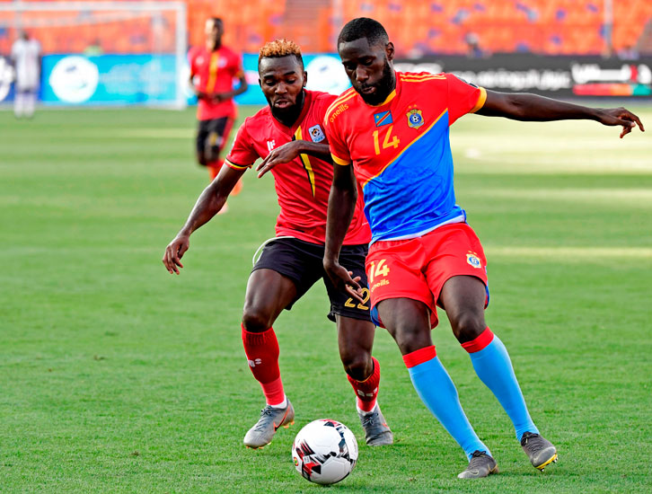 Arthur Masuaku in action for DR Congo