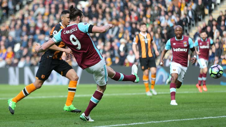 Andy Carroll scores at Hull