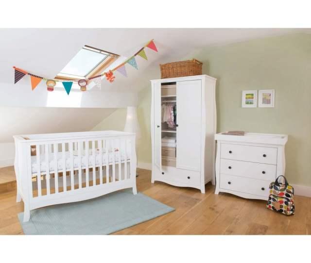 Little House Brampton Nursery Furniture Set White