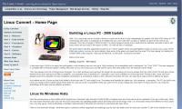 Linux Website Screenshot