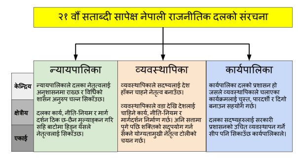 Ideal 21st century political party structure in Nepal
