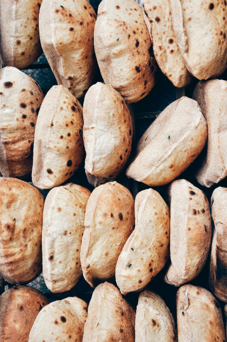 Egyptian Pita Bread named Aysh Baladi by Alex Block via Unsplash