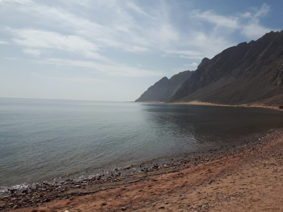 Sea Meets Sky at Wadi Going in Dahab via Christina Wichert
