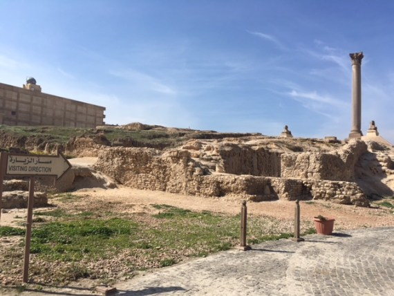 Entry to Pompei's Pillar & the Serapium Temple by Passainte Assem
