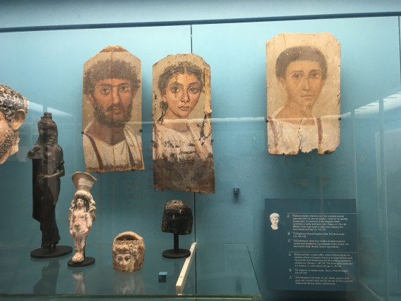 Some of the Portraits of Fayoum at the National Museum of Copenhagen by Passainte Assem