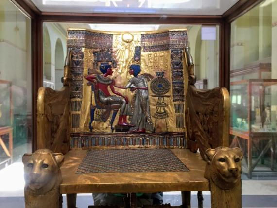 Tutankhamun's throne at the Egyptian Museum by Bassem Sameh