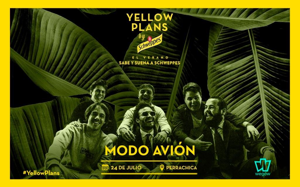Modo Avión actuará en Yellow Plans by Schweppes