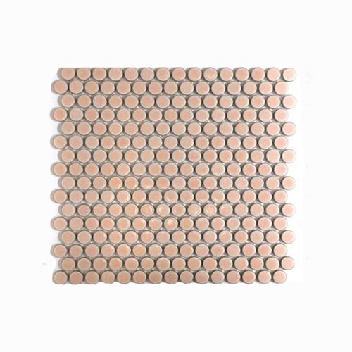 penny round pink mosaic tile 19mm why
