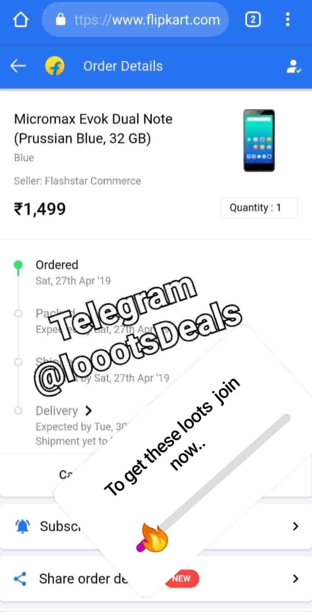 flipkart loots and deals Best Telegram Channel Whypayfull