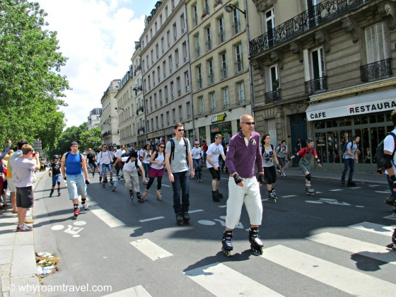 Roller skating in Paris | WhyRoamTravel.com