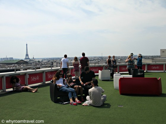 Rooftop terrace at Galeries Lafayette| WhyRoamTravel.com