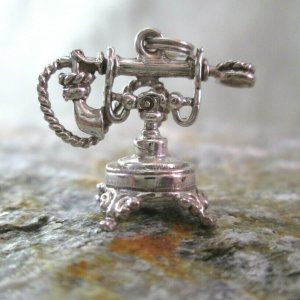 Antique Telephone Charm