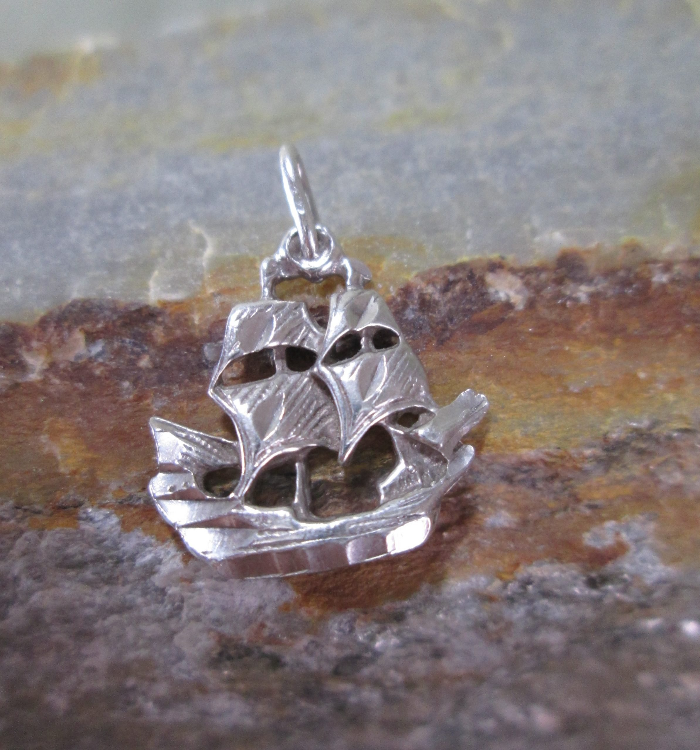 Sterling Silver Frigate Charm