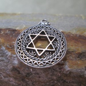 Filigree Star of David Charm