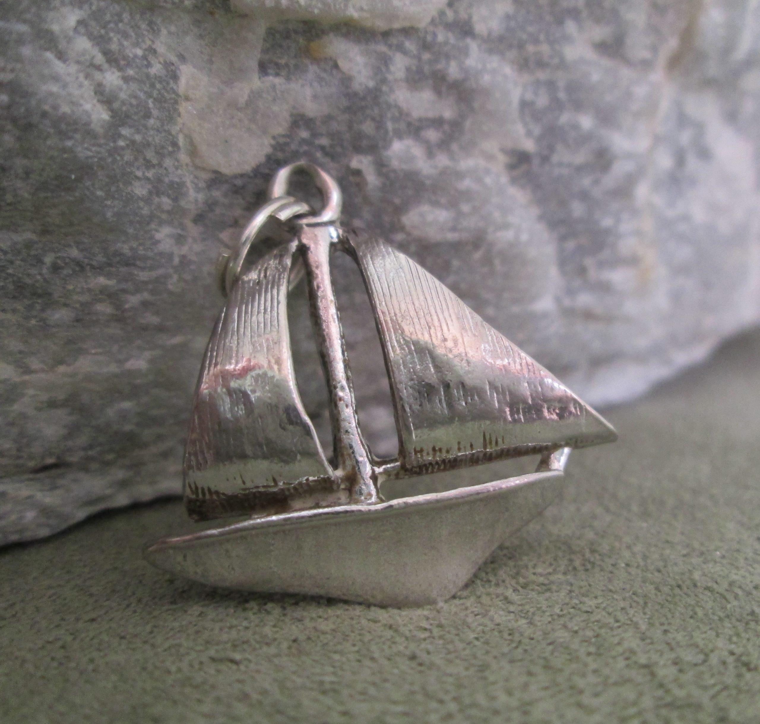 Silver Sailboat Charm