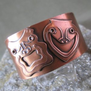 Rebajes copper cuff comedy and tragedy