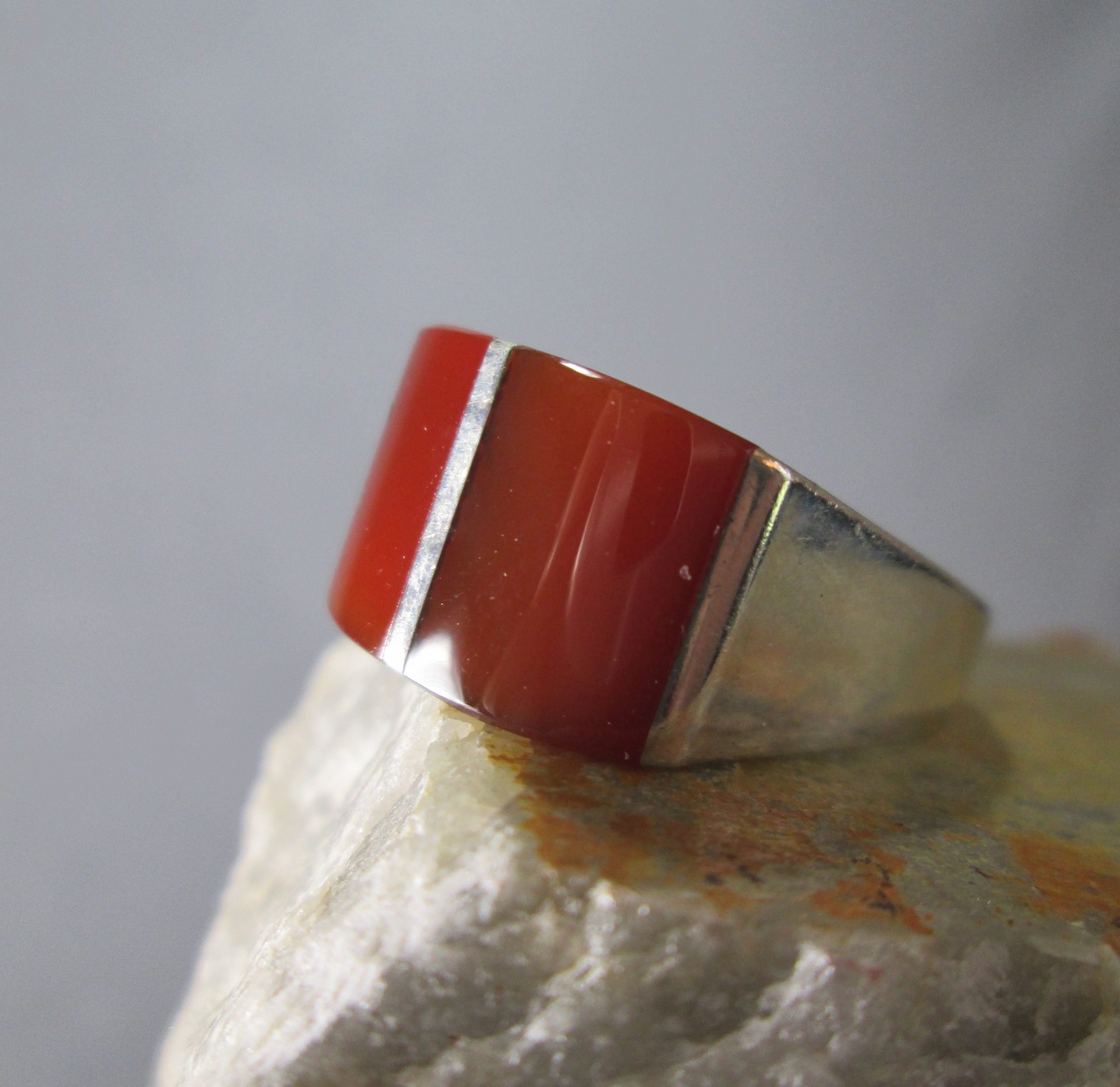 Modernist Carnelian Ring