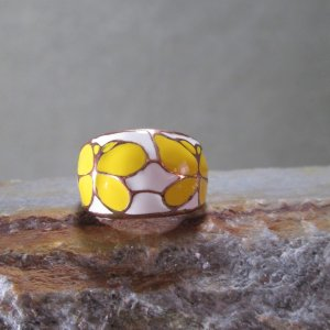 Cloisonne Butterfly Dome Ring