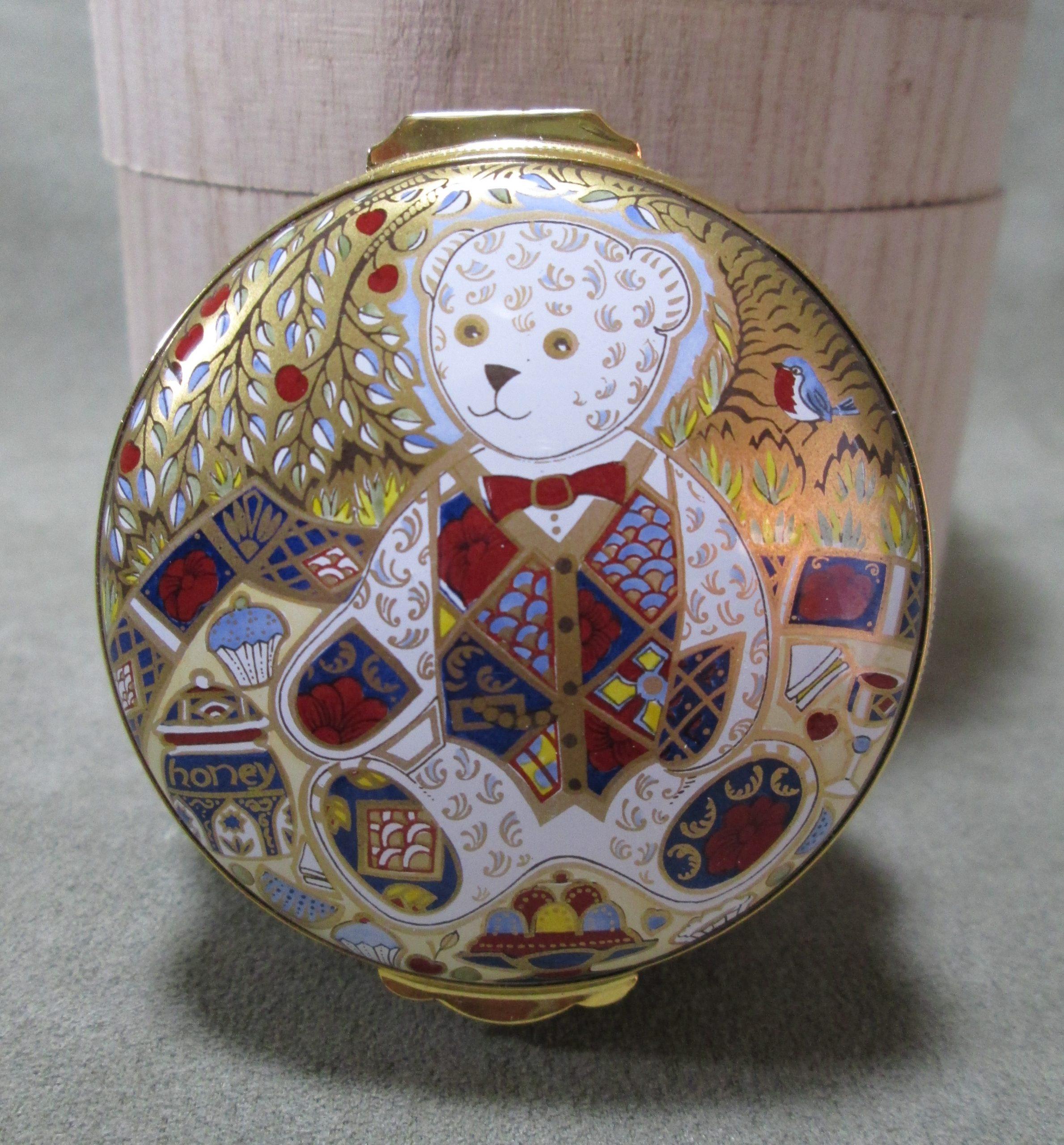 Teddy Bear Picnic Crummles Enamel Box