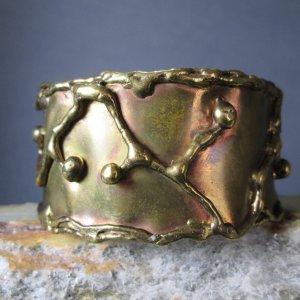 Liquid Lightning Artisan Bronze Bracelet