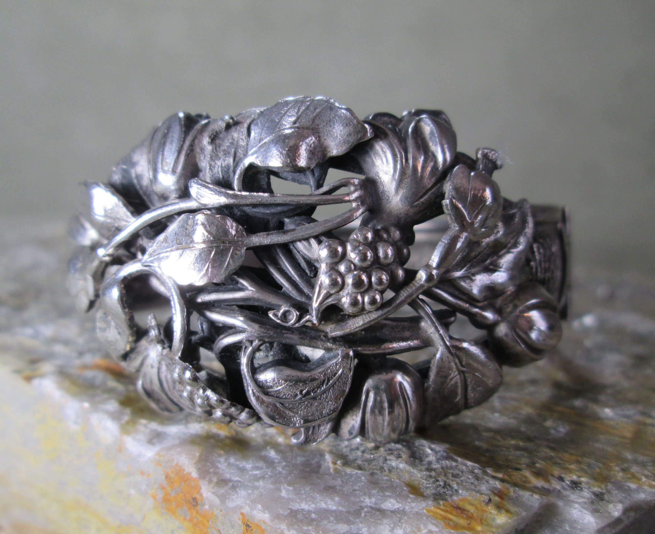 edwardian cuff bracelet flowers of early spring