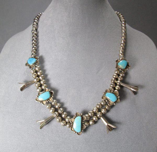 Squash Blossom Navajo Pearls Necklace