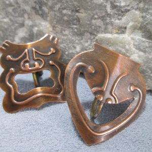 rebajes copper sock and buskin earrings